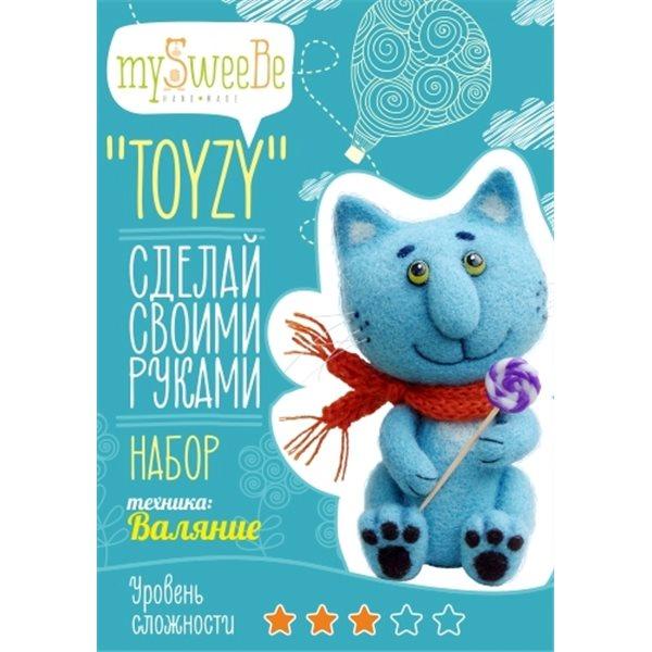 НАБОР TOYZY СИНИЙ КОТ - ВАЛЯНИЕ набор для вязания toyzy кот грустик tz k001