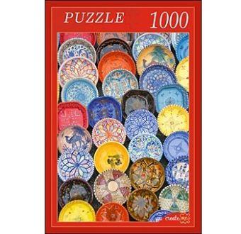 ПАЗЛЫ 1000 элементов. КБ1000-6831 РАСПИСНЫЕ ТАРЕЛКИ