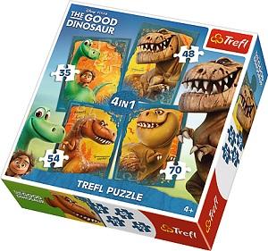 """Пазл 4 в 1 """"Хороший Динозавр"""" Trefl"""