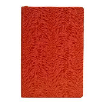 Ежедневник inФОРМАТ ИГУАНА, А5, недат.,оранж., 336 стр.,тонир.блок, ляссе, отрыв. Уголок