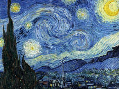 Кардхолдер в форме книжки «Винсент Ван Гог Звездная ночь» - фото 1