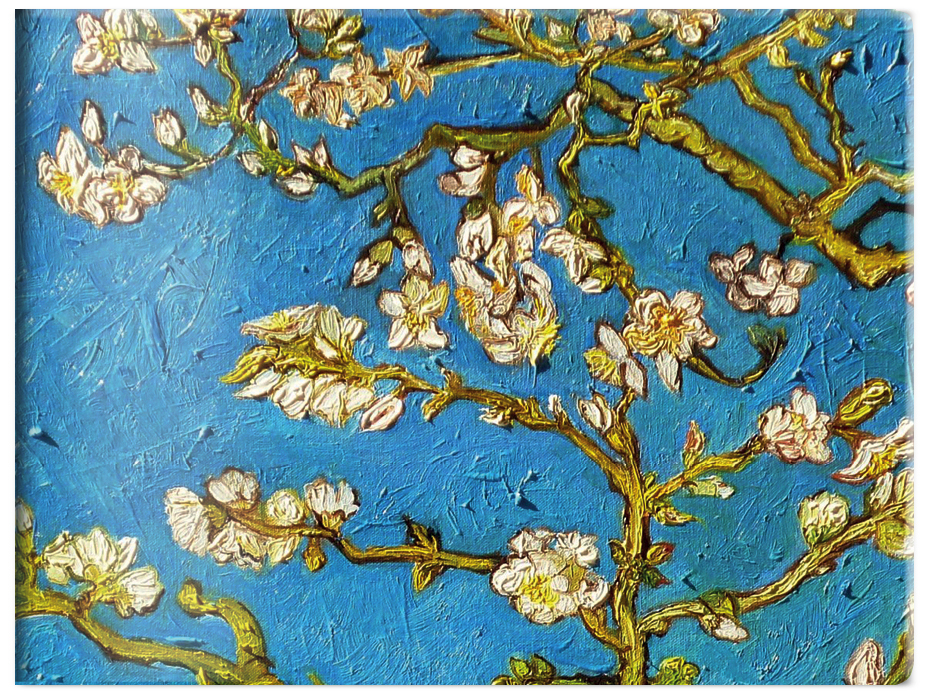 Чехол для карточек. Ван Гог. Цветущие ветки миндаля (Арте) закладка с резинкой ван гог цветущие ветки миндаля арте
