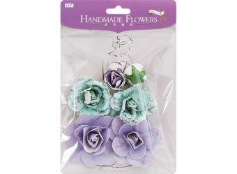 Аксессуары для скрапбукинга. Набор бумажных цветов