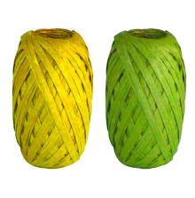 Набор из 2-х упаковочных лент-коконов, рафия. Размер 4 х 10 х 15 см