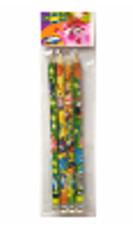 Карандаш  ч/г ,заточенный  с ластиком СМЕШАРИКИ (83968), набор 4шт  в инд пакете с подвесом