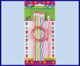 Набор чернографитных карандашей, гнущиеся, пластиковые, HB, заточенные, с ластиком, цвет корпуса ассорти. 5 шт.*195 мм + 1 шт.*300 мм, в блистере с ев