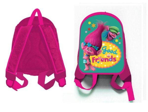 """Рюкзак """"Тролли"""", 1 отделение, внутри карман на молнии и карман-сетка, мягкие наплечники, для дошкольников"""