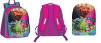 """Рюкзак """"Тролли"""", 1 отделение, внутри карман на молнии и карман-сетка, мягкие наплечники, для дошкольников,размер 30*25*10 см"""