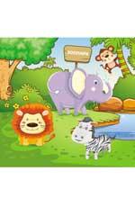 Зоопарк: водораскраски-пазлы