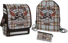Набор школьника. Состав: рюкзак эргономичный, пенал, сумка для обуви. Размер: 37 х 28 х 15 см. Упак: 4. Seventeen Kids