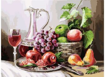 Живопись на холсте 30*40 см. Натюрморт с фруктами (129-AS)