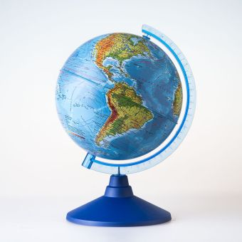 Глобус Земли физический. Диаметр 210мм