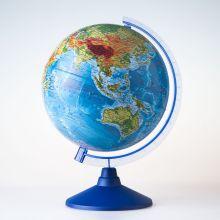 Глобус Земли физический. Диаметр 250мм