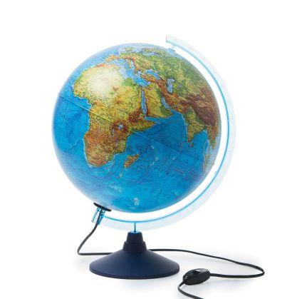 Глобус Земли физический с подсветкой. Диаметр 320мм - фото 1