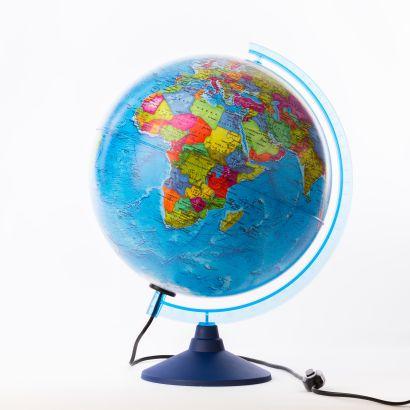 Глобус Земли политический с подсветкой. Диаметр 320мм - фото 1