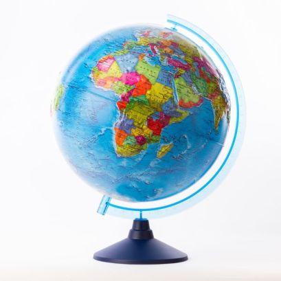 Глобус Земли политический рельефный. Диаметр 320мм - фото 1