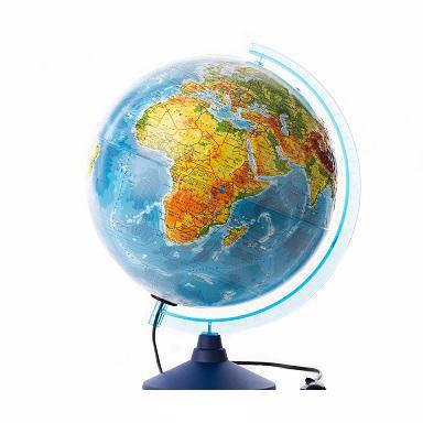 Глобус Земли физический с подсветкой рельефный. Диаметр 320мм - фото 1