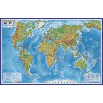 Мир Физический 1:29М  (с ламинацией в тубусе)101х66