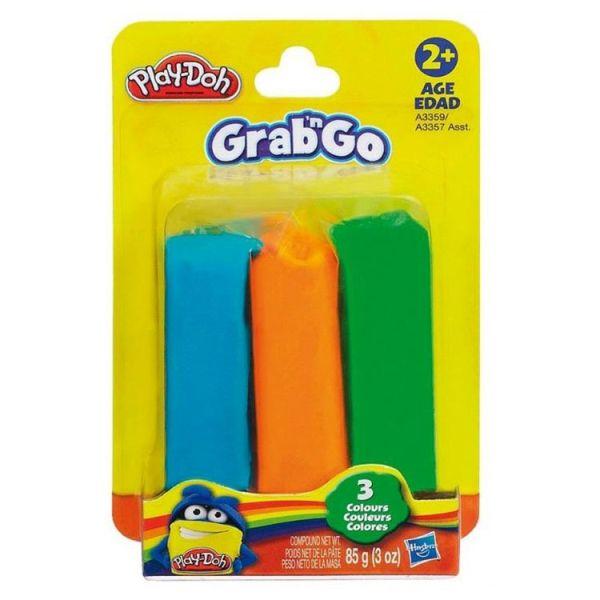 Play-Doh Пластилин: Набор из 3-х цветов пластилина на стрипленте (в коробке 12 шт.) (A3357)
