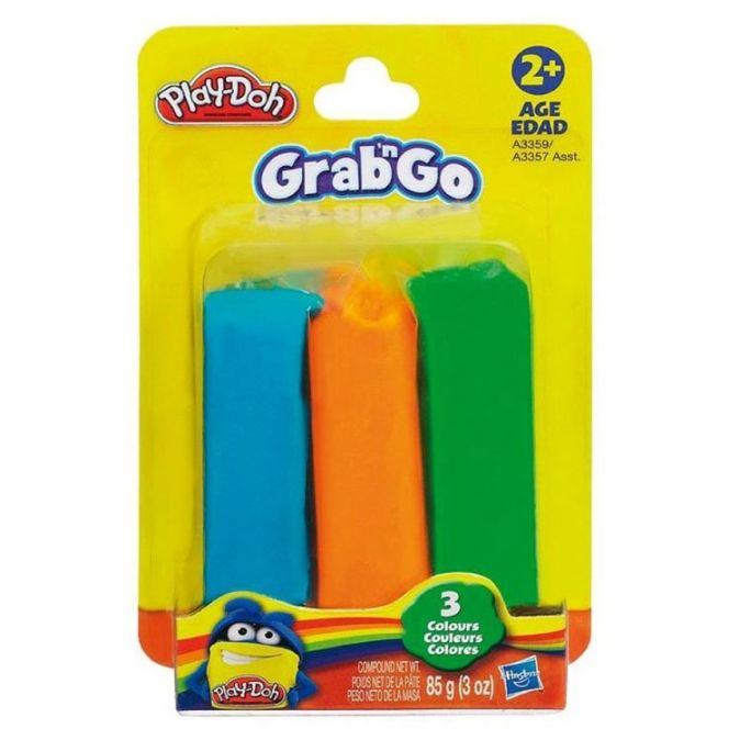 Play-Doh Пластилин: Набор из 3-х цветов пластилина на стрипленте (в коробке 12 шт.) (A3357) PLAY-DOH