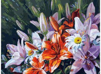 Живопись на холсте 30*40 см. Лилии из сада (138-AS)
