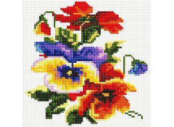 Мозаика на подрамнике. Цветочки (352-ST-S)