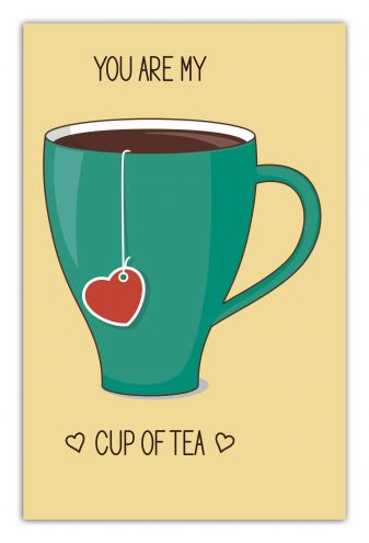 You are my cup of tea (green cup) (А5)