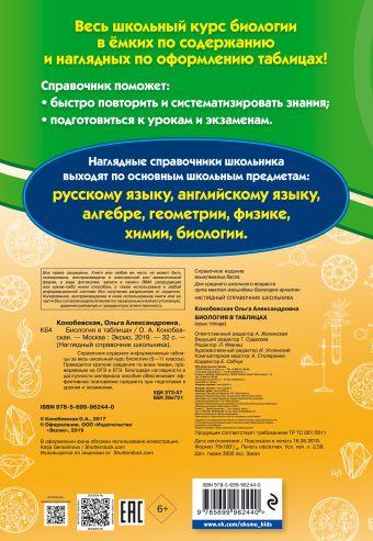 Биология в таблицах О. А. Конобевская