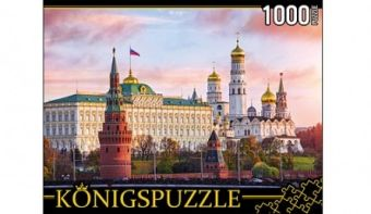 Königspuzzle. ПАЗЛЫ 1000 элементов. ГИК1000-6533 МОСКВА. КРЕМЛЬ НА ЗАКАТЕ