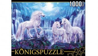 Königspuzzle. ПАЗЛЫ 1000 элементов. МГК1000-6527 ЕДИНОРОГИ И ВОДОПАДЫ
