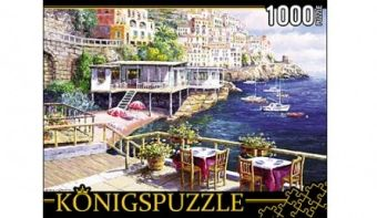 Königspuzzle. ПАЗЛЫ 1000 элементов. АЛК1000-6484 КАФЕ У МОРЯ