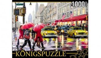 Königspuzzle. ПАЗЛЫ 1000 элементов. АЛК1000-6488 ДОЖДЬ В НЬЮ-ЙОРКЕ