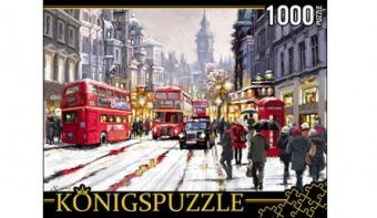 Königspuzzle. ПАЗЛЫ 1000 элементов. АЛК1000-6491 ЗАСНЕЖЕННЫЙ ЛОНДОН