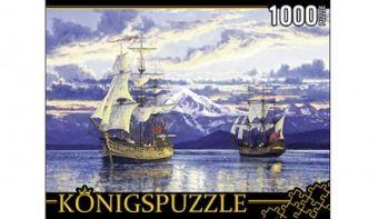 Königspuzzle. ПАЗЛЫ 1000 элементов. АЛК1000-6503 КОРАБЛИ ДЖОРДЖА ВАНКУВЕРА