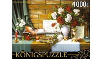 Königspuzzle. ПАЗЛЫ 1000 элементов. АЛК1000-6505 НАТЮРМОРТ СО СКРИПКОЙ