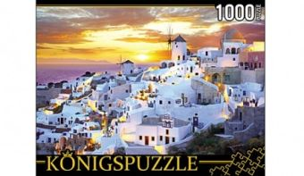 Königspuzzle. ПАЗЛЫ 1000 элементов. КБК1000-6493 ГРЕЦИЯ. САНТОРИНИ