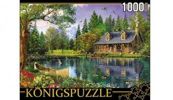 Königspuzzle. ПАЗЛЫ 1000 элементов. МГК1000-6459 ДОМИК У ОЗЕРА