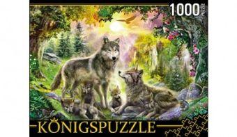Königspuzzle. ПАЗЛЫ 1000 элементов. МГК1000-6472 СЕМЬЯ ВОЛКОВ