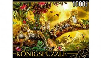 Königspuzzle. ПАЗЛЫ 1000 элементов. МГК1000-6474 ЛЕОПАРДЫ НА ДЕРЕВЕ