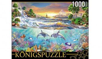 Königspuzzle. ПАЗЛЫ 1000 элементов. МГК1000-6475 ПОДВОДНАЯ ЖИЗНЬ