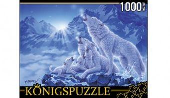 Königspuzzle. ПАЗЛЫ 1000 элементов. МГК1000-6476 ВОЛКИ И НОЧНЫЕ ГОРЫ