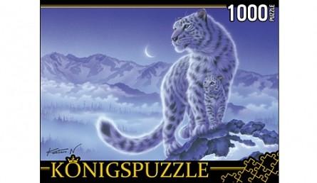 Königspuzzle. ПАЗЛЫ 1000 элементов. МГК1000-6477 СНЕЖНЫЕ БАРСЫ