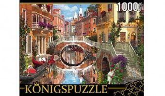 Königspuzzle. ПАЗЛЫ 1000 элементов. МГК1000-6494 КАНАЛ В ВЕНЕЦИИ