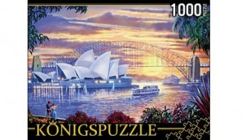 Königspuzzle. ПАЗЛЫ 1000 элементов. МГК1000-6495 СИДНЕЙСКИЙ ОПЕРНЫЙ ТЕАТР