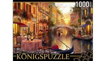 Königspuzzle. ПАЗЛЫ 1000 элементов. МГК1000-6496 ВЕЧЕР В ВЕНЕЦИИ