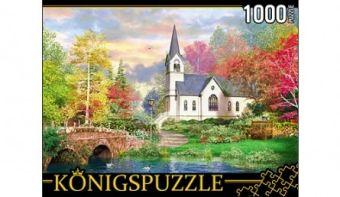 Königspuzzle. ПАЗЛЫ 1000 элементов. МГК1000-6498 ЦЕРКОВЬ В ОСЕННЕМ ПАРКЕ