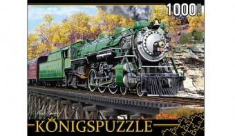 Königspuzzle. ПАЗЛЫ 1000 элементов. МГК1000-6510 РЕТРОПОЕЗД