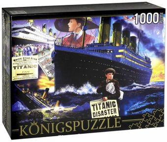 Königspuzzle. ПАЗЛЫ 1000 элементов. МГК1000-6512 ТИТАНИК