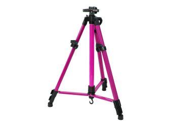 Аксессуары для рукоделия,Декор. Мольберт телескопический тренога метал. розовый (71-BS )