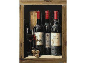 Живопись на холсте 30*40 см. Коллекционное вино (307-AS)